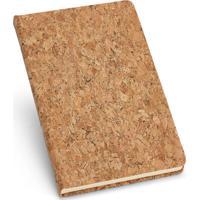 Caderneta Capa Cortiça 12,7X18Cm 80 Folhas Pautadas