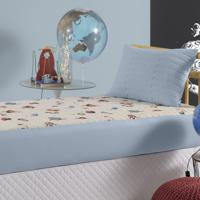 Colcha Com Elástico Slip Infantil Altenburg Malha In Cotton 100% Algodão Planetas - Azul Azul