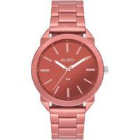 Relógio Euro Color Spray 40Mm Aço Feminino - Feminino-Vermelho