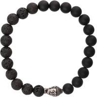 Nialaya Jewelry Pulseira Elástica De Pedras - Preto
