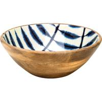Saladeira Abstrata- Marrom & Azul- 11Xã˜30Cm- Rojbon Gourmet