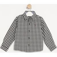 Camisa Com Bordado- Branca & Preta- Pequena Maniapequena Mania