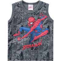 Regata Spider-Manâ®- Cinza Escuro & Vermelha- Primeirbrandili