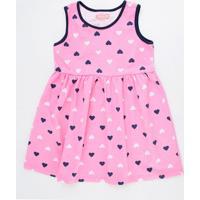 Vestido Infantil Estampa Corações Marisa