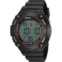 Kit De Relógio Digital Speedo Masculino + Carregador Portátil - 81192G0Evnp2K1 Preto