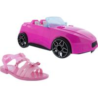 Sandália Barbie Best Day Ever Rosa + Brinde Carro