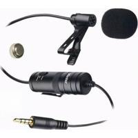 Microfone Para Smartphone Câmera De Ação Plugue P2 E P10 - Vivitar Viv-Mic903 - Unissex