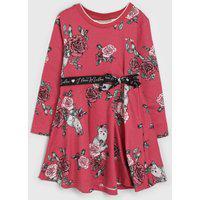 Vestido Milon Infantil Floral Rosa