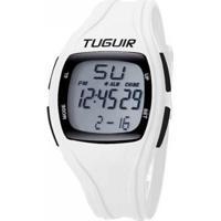 Relógio Tuguir Pedômetro Digital Masculino - Masculino-Branco