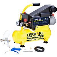 Compressor De Ar Mega Air Cfa, 5,5/6L, Acompanha Kit Air 6 Pçs , 750 W, Bivolt - Ferrari