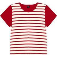 Blusa Viscotorcion Rovitex Plus Feminina - Feminino-Vermelho