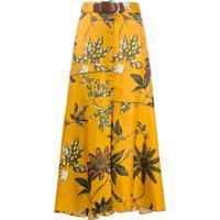Dorothee Schumacher Saia De Seda Com Estampa Floral - Amarelo