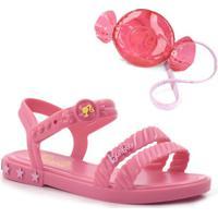 Sandália Infantil Barbie Com Candy Bag
