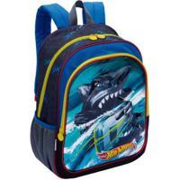 Mochila Infantil Sestini Hot Wheels 19X - Masculino-Azul