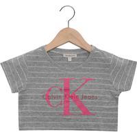 Blusa Calvin Klein Kids Menina Cinza