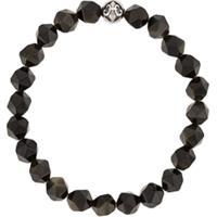Nialaya Jewelry Pulseira Com Pedras Facetadas - Preto