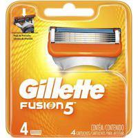 Carga Gillette Fusion 5 Com 4 Unidades
