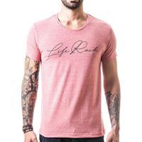 Camiseta T-Shirt Liferock - Masculino-Rosa