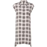 Marc Jacobs Camisa Longa Xadrez - Branco