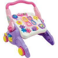 Andador 4X1 Para Bebê Maral 3006 Até 30Kg Rosa/Lilás