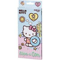 Lápis De Cor - 12 Cores - Hello Kitty - Praia - Molin