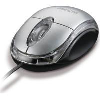 Mouse Multilaser Classic Prata Usb Mo006