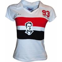 Camisa Liga Retrô Telê Santana 1993 Feminina - Feminino-Branco