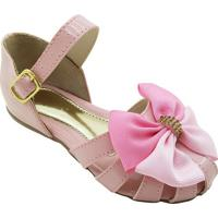 Sapato Boneca Com Tiras- Rosa- Mz Kidmz Kid