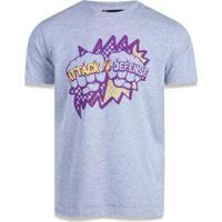 Camiseta Los Angeles Lakers Nba New Era Masculina - Masculino-Mescla Claro