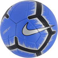 Bola De Futebol De Campo Nike Strike Fa18 - Azul Preto 91d3f165bdf5a