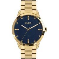 Relógio Euro Glitter Fever Eu Feminino - Feminino-Dourado