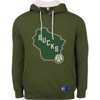 Casaco Moletom Milwaukee Bucks Canguru Logo - Nba - Verde - Menino - Dafiti