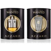 Kit Perfume Azzaro Wanted Masculino Eau De Toilette + Hidratante Facial