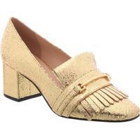 Sapato Tradicional Metalizado- Douradoarezzo & Co.