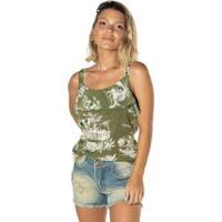 Blusa Dwz Babado Feminina - Feminino-Verde