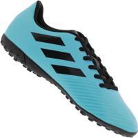 Chuteira Society Adidas Artilheira Iii Tf - Adulto - Azul/Preto