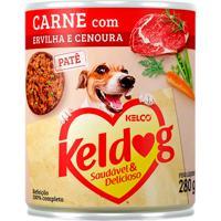Ração Para Cães Keldog Carne Com Ervilha E Cenoura Lata 280G