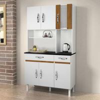 Cozinha Compacta Ventura 6 Pt 2 Gv Branco E Caramelo