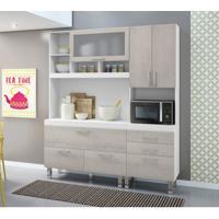 Kit Cozinha Compacta Marinna Branco Naturaly
