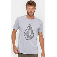 Camiseta Volcom Silk Creep Stone Masculina - Masculino-Cinza