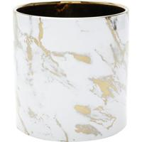 Vaso Decorativo- Branco & Dourado- 15Xã˜15Cm- Rojrojemac