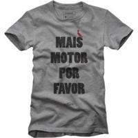 Camiseta Reserva Mais Motor Masculina - Masculino-Cinza