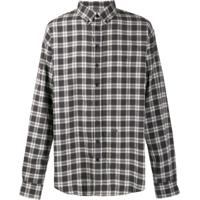 Dsquared2 Dropped Military Checked Shirt - Cinza