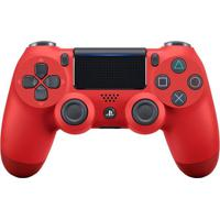 Controle Sem Fio Sony Dualshock 4 Para Playstation 4 Com Led Vermelho