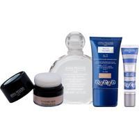 Kit Coffret Maquillage Anna Pegova Solução Micelar 200Ml + Bb Cream Multifuncional 30G + Pó Facial Translúcido 6G + Corretivo Ultra Natural 5G