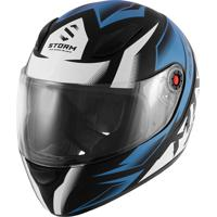 Capacete Moto Fechado Mix Mx2 Storm Azul E Preto Fosco