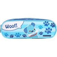 Estojo Duplo Cachorro   Cor: Azul