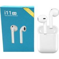 Fone De Ouvido Bluetooth Sem Fio I11 Tws Touch - Unissex-Branco