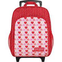 Mochila Corações - Vermelha & Rosa Claro - 33X27X12,Jacki Design