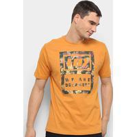 Camiseta Hd Camo Lea Masculina - Masculino-Amarelo